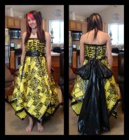 Caution Tape Dress by KalieMONSTER