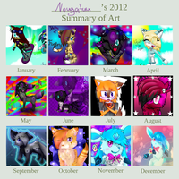 Wohohoho - My Art Summary 2012 by Nougatuu