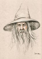 Gandalf-Drawing by Stungeon