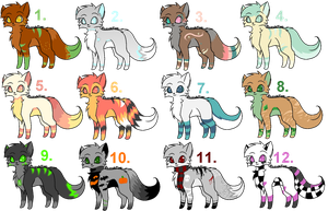Adoptables :D by starsleeps