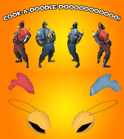 TF2 Pyro Chicken Hat by Habboi