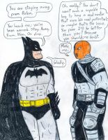 Batman vs Slade by Jose-Ramiro