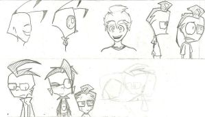 Invader Zim doodles 2 by Alison-lynn