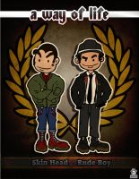 skinhead and rude boy united by maksi-dg