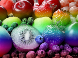 Fruit - Effetto Arcobaleno by Kloddy44