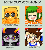 Icon Commissions! by princelupin