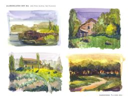 Watercolor Studies - [Landscapes SET 01] by darkspeeds