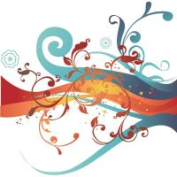 abstract twirl floral vector by cgvector