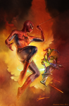 Spider-Man and The Green Goblin (By Shannon Maer) by Shannon-Maer