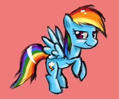 Rainbow Dash by littlehappypanda