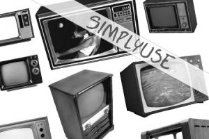 Old TV - brush set by simplyuse