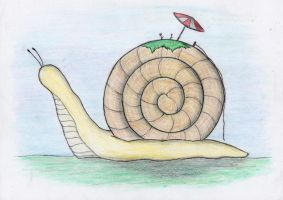 George the snail [colour] by Pumpkinwaffle
