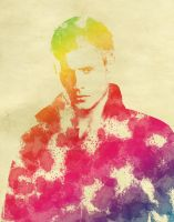 Dean Winchester/ Jensen Ackles Watercolor by Lotiseclipse
