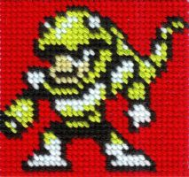 DWN. 022 Snake Man Cross Stitch by ZetaGame