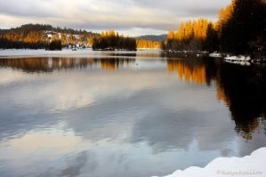 Winter Lake I by kayaksailor