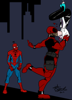 Commission- Spidy Kisses by R2ninjaturtle