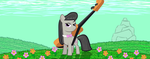 Octavia stands in a field by RedEnchilada
