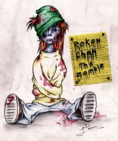 Rokon Chan The Zombie! by LaunaWolf