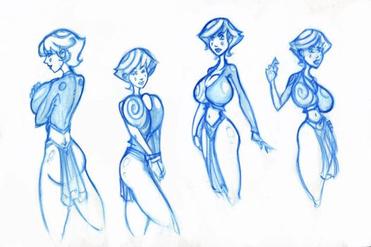 Miss Fixit Doodles 02 by wizdomtooth