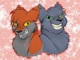 Mad Alpha and Mad-Eyed King by CascadingSerenity