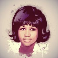Aretha Franklin by Tizyhunter