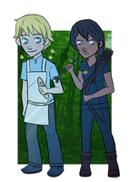 The Girl on Fire and the Boy With the Bread by Tetra-Zelda
