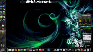 Desktop Experiments! [19]WinBlinds/Rain/ObjectDock by Rhyz66
