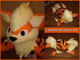 Arcanine Plush by Allyson-x