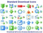 Standard Download Icons by Iconoman