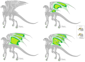 Preshaded Female Dragon Bases by Neffertity