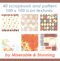 40 Scrapbook Icon Textures by awfullybad
