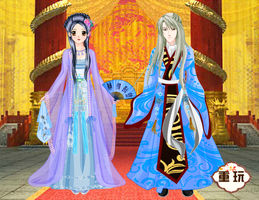Dragonia and Michael in China by PiccoloFreakNamick