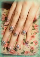 Butterfly Ornaments Nail Art by Undomiele