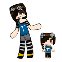 Minecraft Drawing Request - TeenageLover101's Skin by CubedCake