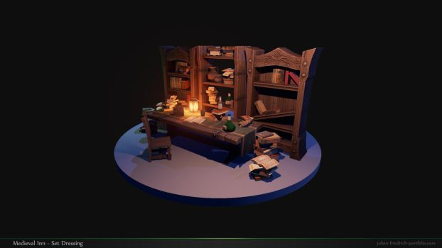 Medieval Inn Set Dressing 01 by Texelion