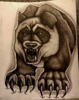Feral panda by Deoxygenated