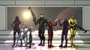 Mass Effect 3: wizjer squad commission by SlipperyHammer
