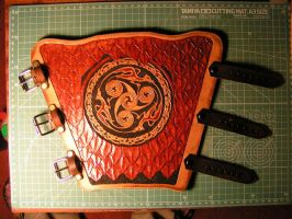 Leathercraft-Archery Bracer_2 by addichim