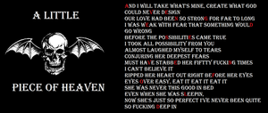 Avenged Sevenfold (A Little Piece of Heaven) by a7x-kjh