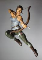 Lara Croft Reborn sculpture by suzannewolf