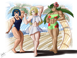 Alolan Beauties by Pandatarius