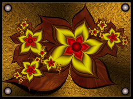 Wooden Wall Flowers by JCCJ756