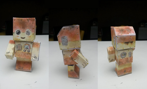 Chibi (Rusty?) Robot Papercraft by PitchBlackEspresso