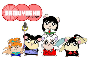 Inuyasha Group as Hamster by kaijumama