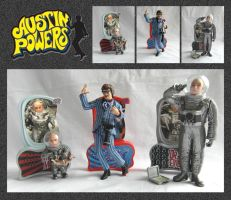 Austin Powers Models by mikedaws