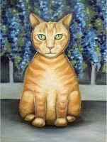 Ginger cat Olly by JulijaJan