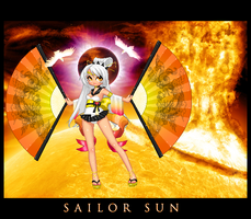Solar Senshi Sailor Sun by leviathen