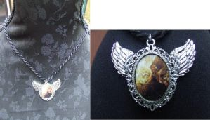 Winged medallion by TheLovelyBoutique