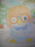 Pororo the Little Piplup by dengekipororo