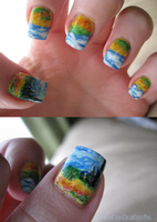 more van gogh nails by xtheungodx